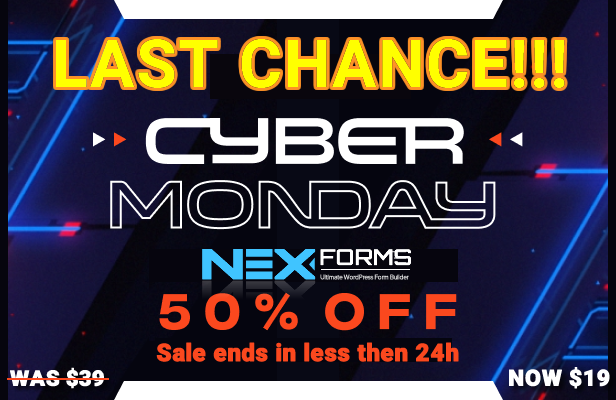 NEX-Forms 7 - The Ultimate WordPress Form Builder - Cyber Monday Special