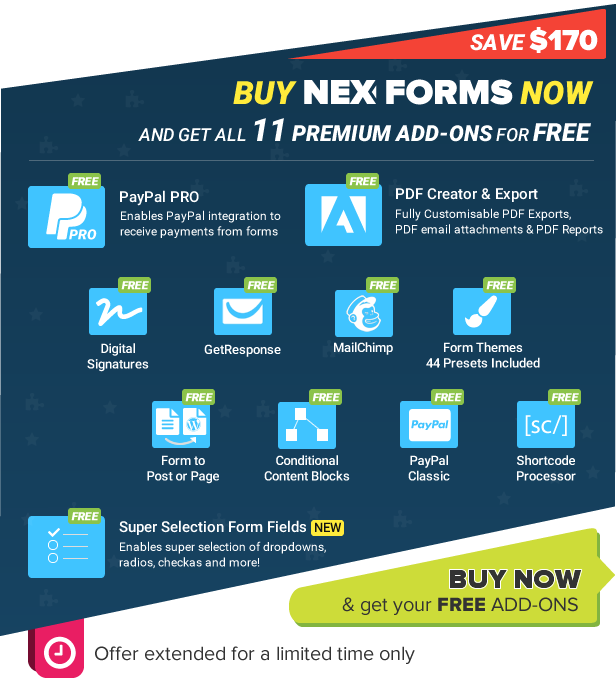 NEX-Forms - ADD ON SPECIAL